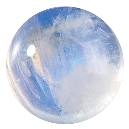 Polished moonstone