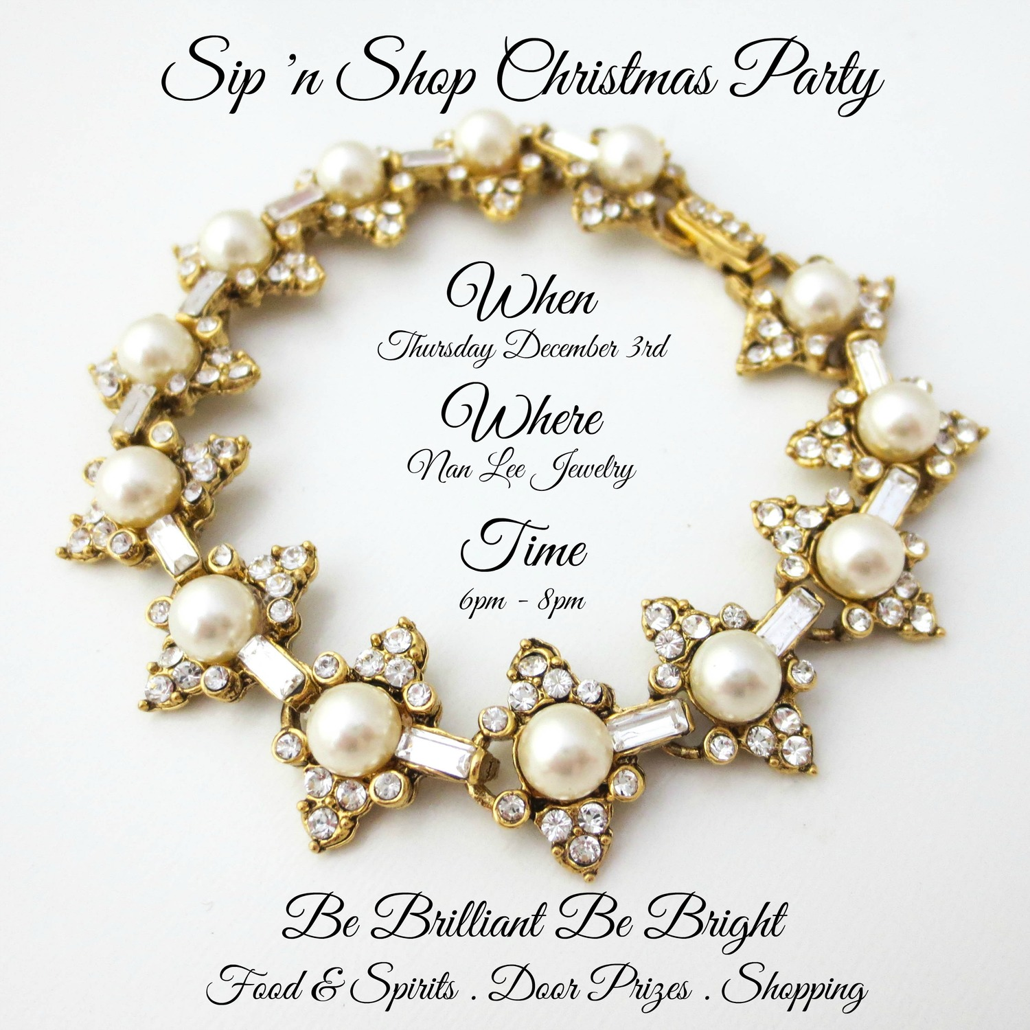 Save the Date- Sip & Shop Christmas Party   December 3 — Nan Lee Jewelry