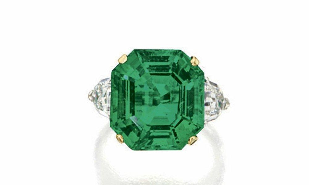 Ascher Cut Emerald Ring Sotheby's