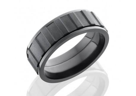 Zirconium Moving Gear Band — Nan Lee Jewelry