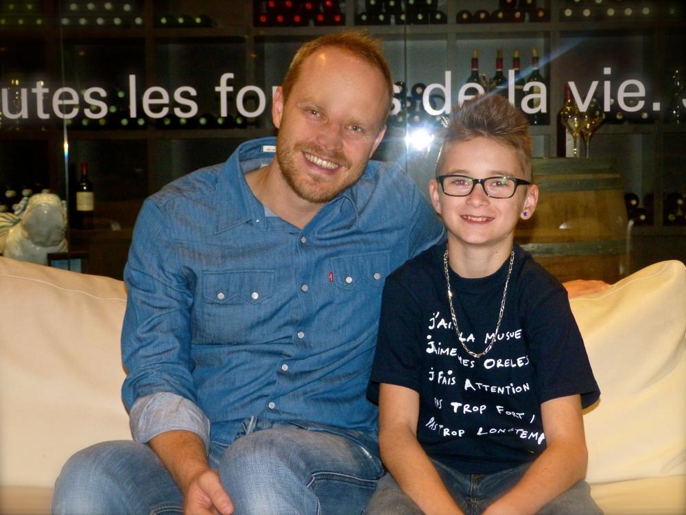 Avec le jeune (12 ans) et déjà excellent batteur Luc GARCIA !