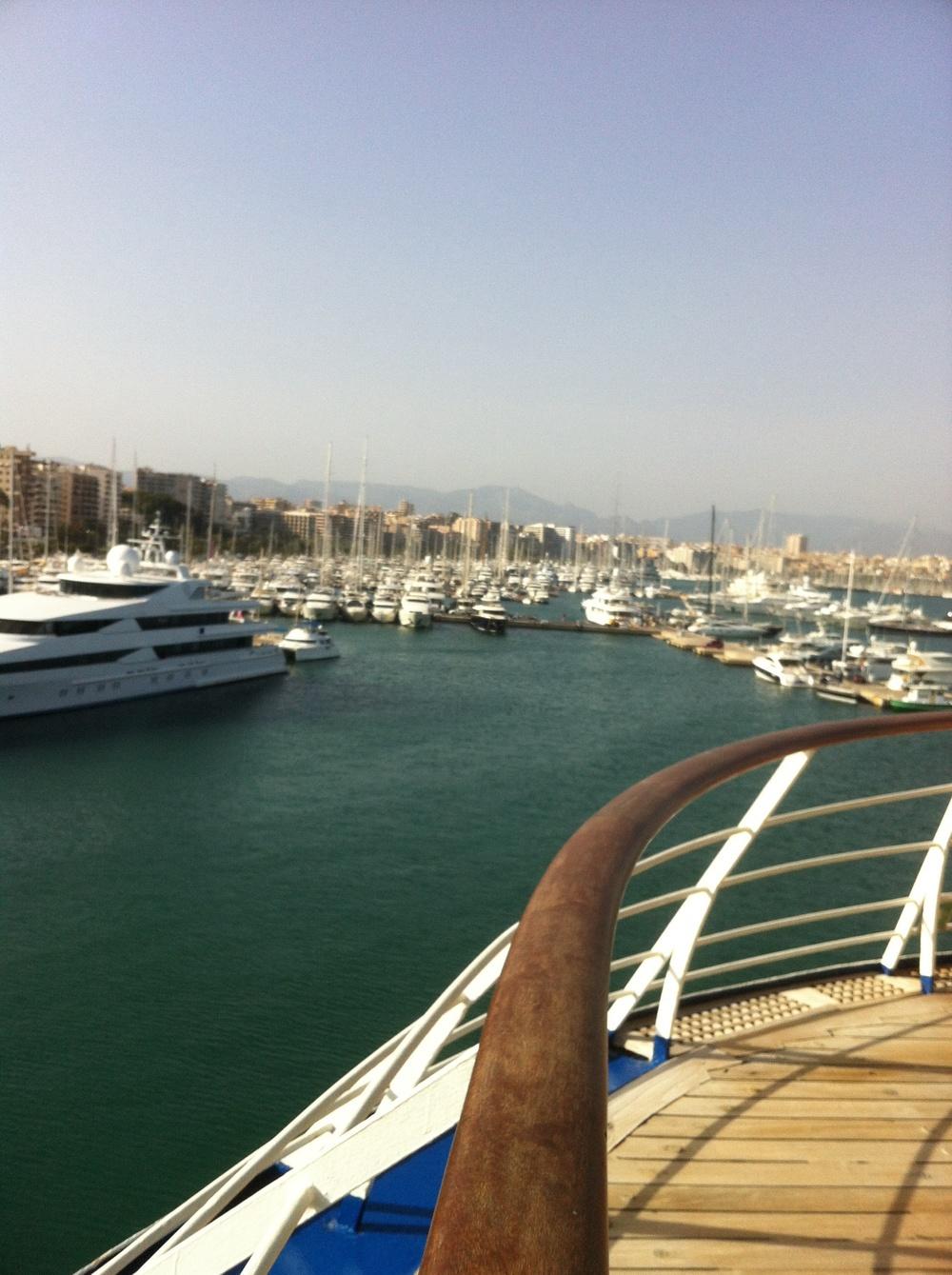 Dans le port de Majorque