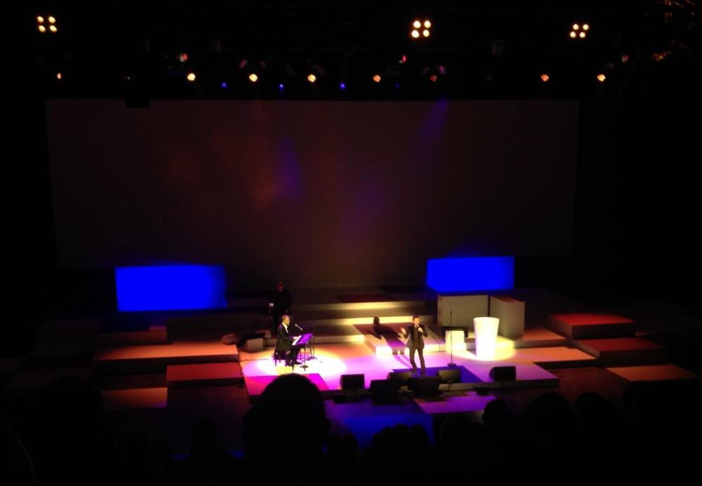 En concert sur la scène de la halle Tony-Garnier à Lyon (photo R.Lafargue)