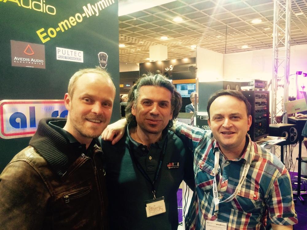 Avec Emmanuel Feyrabend, ingé son , et son copain Olivier, créateur d'un compresseur de folie