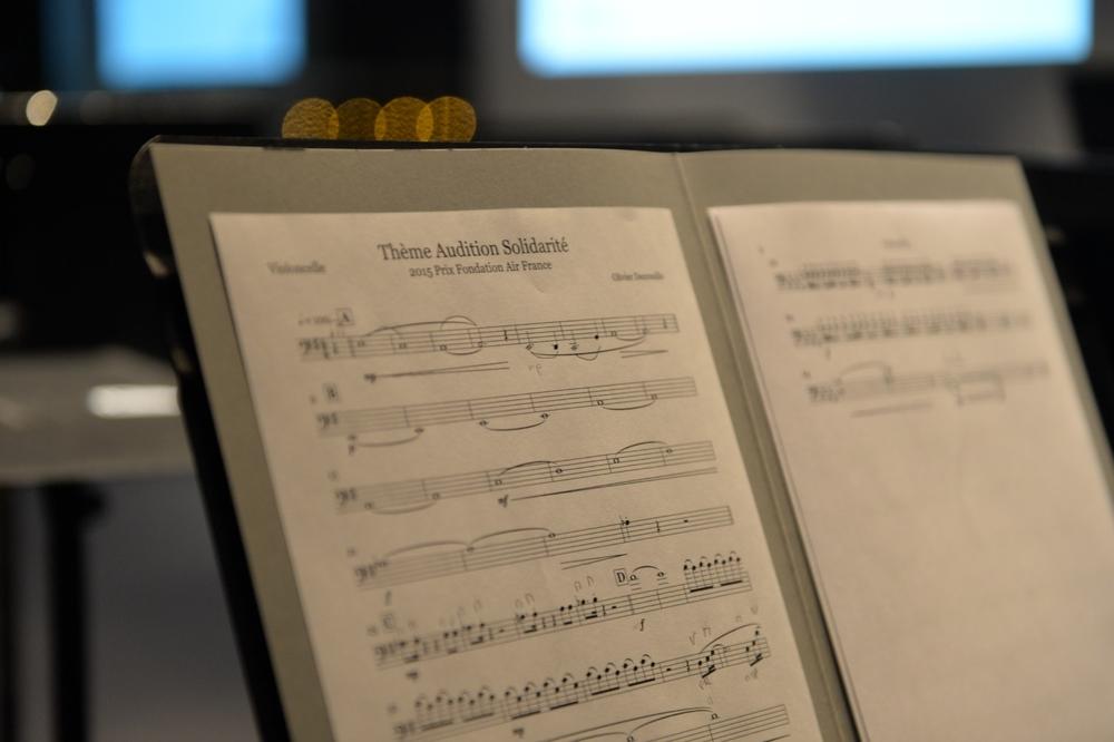 Identité Sonore d'AuditionSolidarité pour nonette à cordes