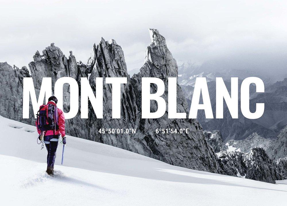 Mont Blanc Cardboard   Print (art direction, cardboard design, stickers, posters)