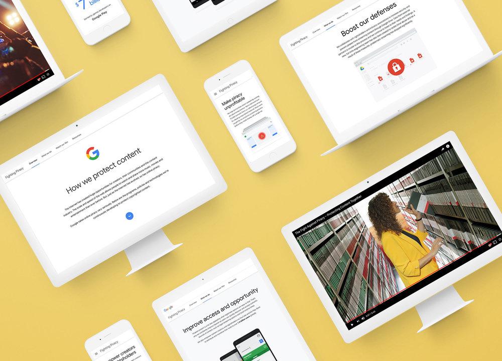 Google Piracy    Responsive web design & build, UX/UI, print, film, social