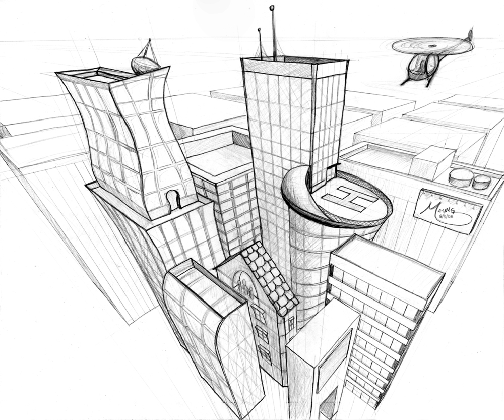 3-Point Perspective City