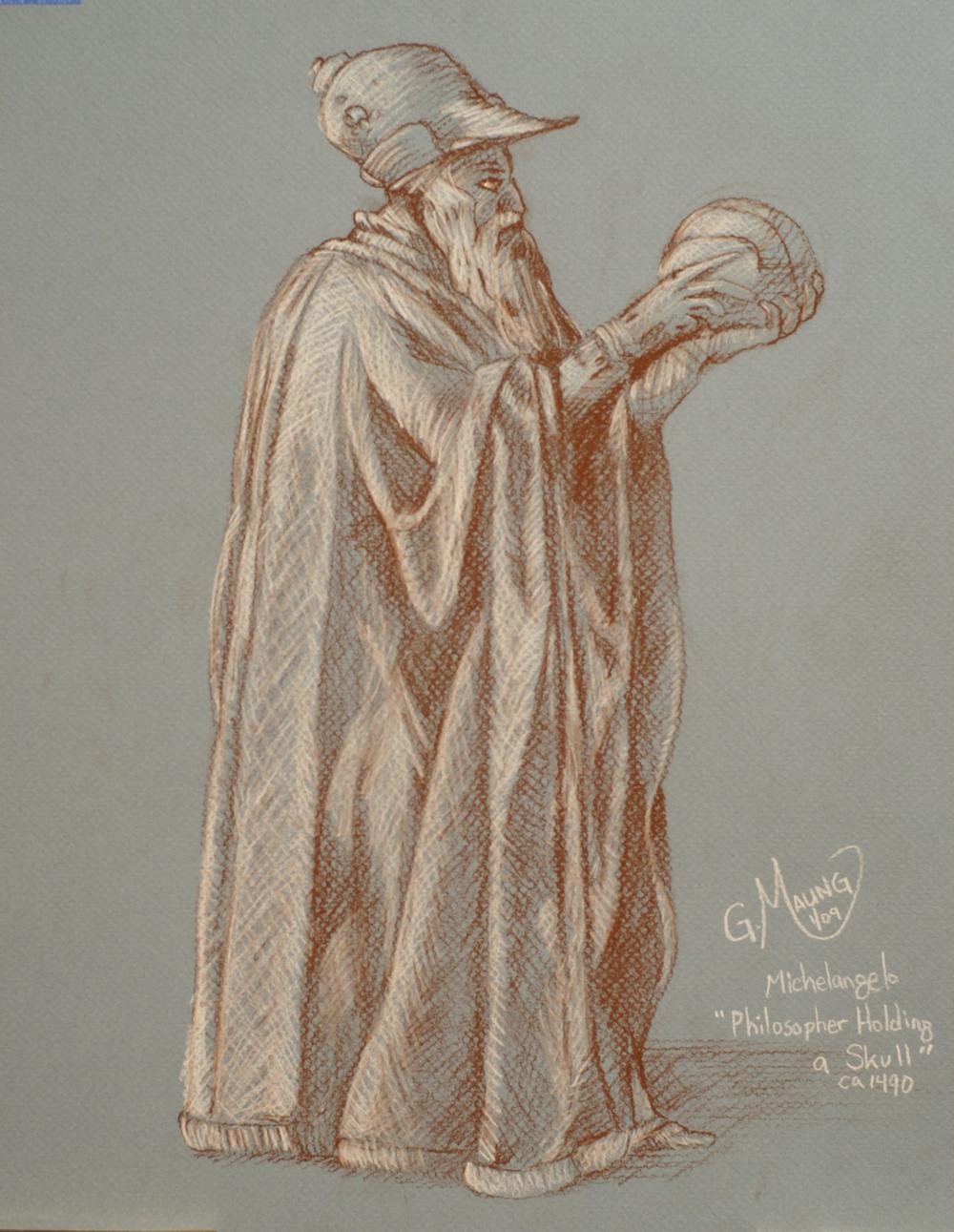 Philosopher Holding A Skull