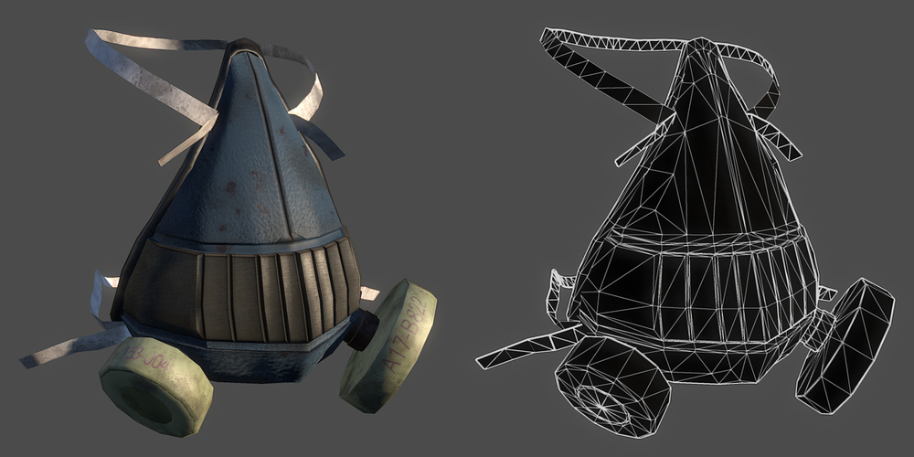 First pass on textures for the gas mask