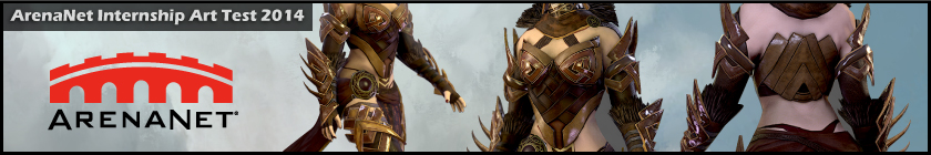 ArenaNet Character Internship Art Test 2014