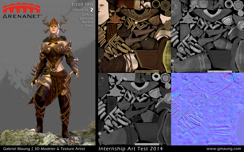 Arenanet-Character-Internship-Norn-Guild-Wars-Norn-Texture-Presentation