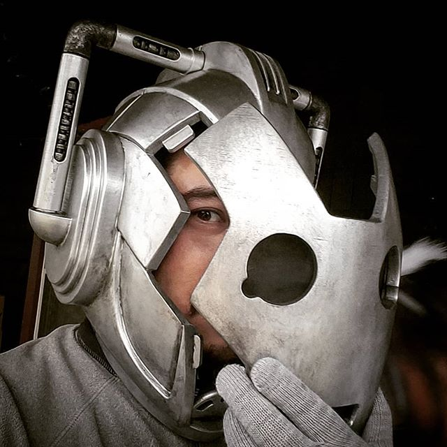 Thanks for sharing your files! @piggyson  Finished it just in time for the trick or treaters.  #drwho #cyberman #doctorwho  #halloweencostume #3dprinting #halloween #whovian