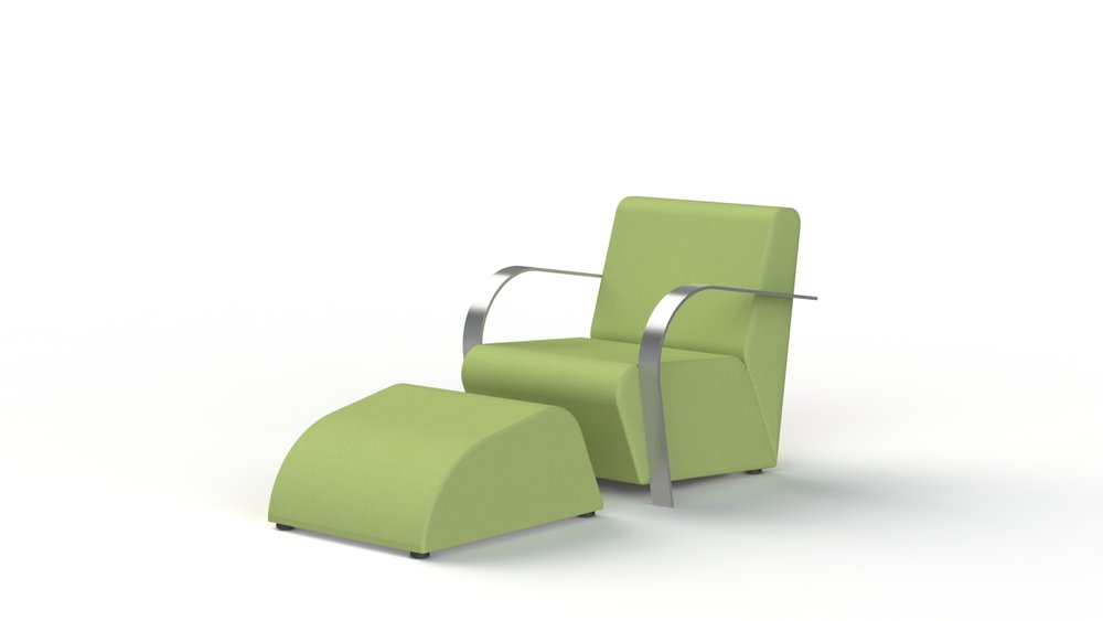 Alu arm & footstool.JPG