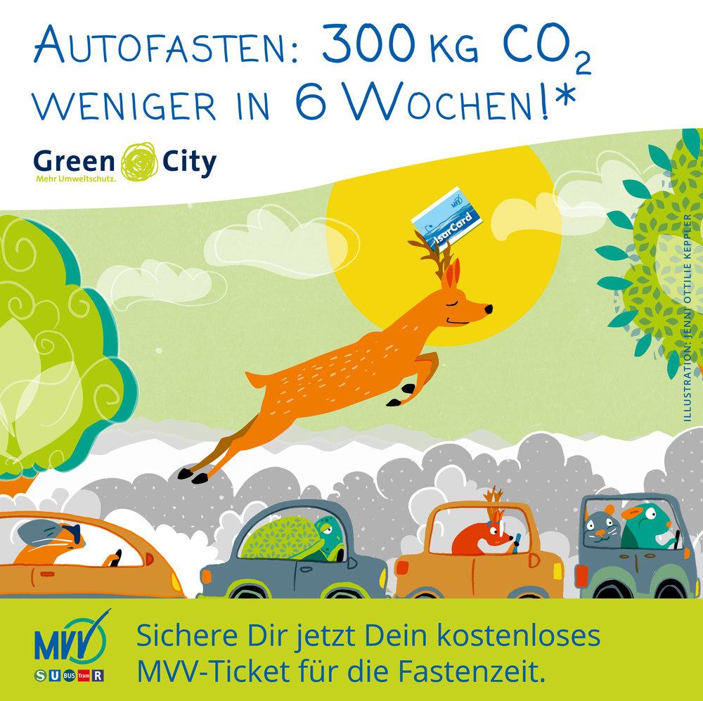 Autofasten Aktion MVV München