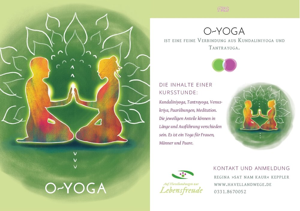 Flyer-Design for O-YOGA Potsdam