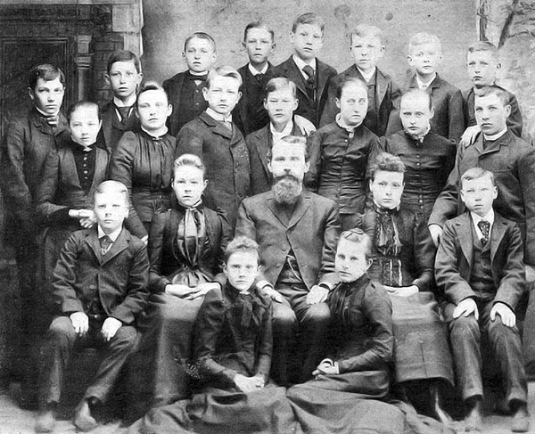 The confirmation class, c. 1910.