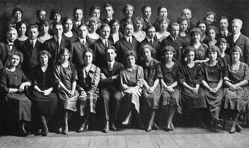 The choir, c. 1910.