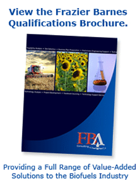 FBA Qualifications Brochure, Biofuel Consulting, biodiesel experts, engineering reviews, renewable diesel services experts