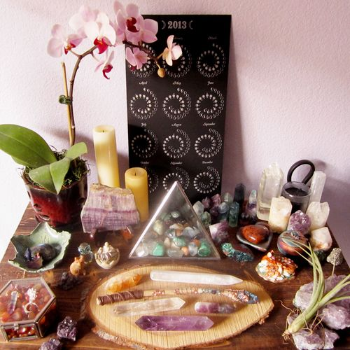 Select sacred items:  - Choose items that you feel connected to.