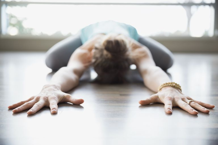 One important thing - to be constantly kept in mind when doing Child's pose is the regulation of the breath.