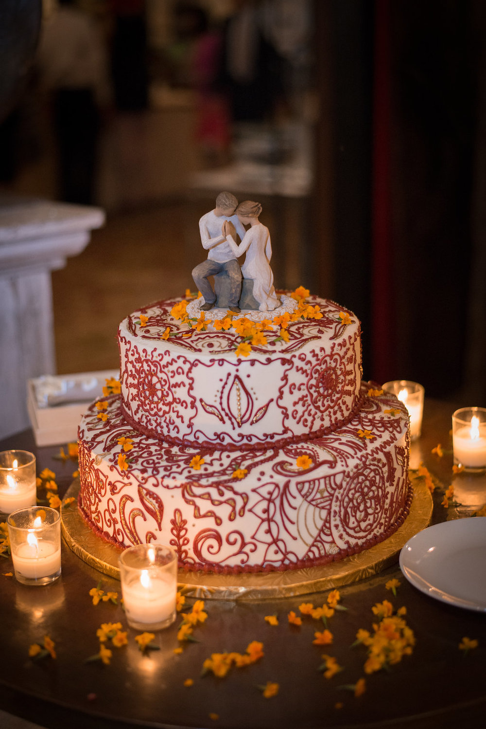 EdandMariaReceptionWeddingCake