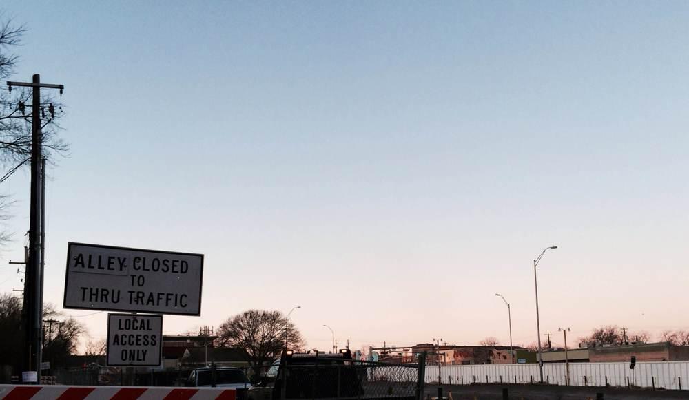 Access to my driveway, Austin, TX - Jan 2014