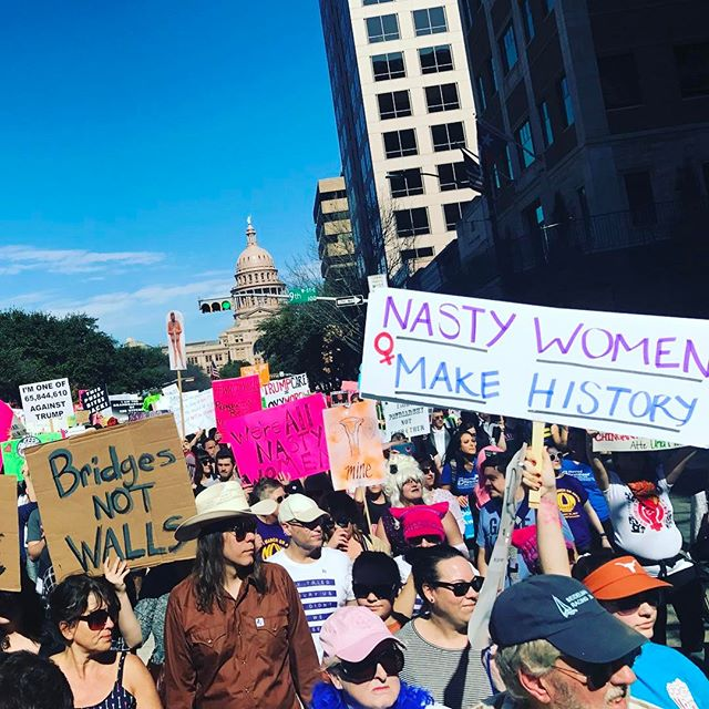 The future looks big and bright deep in the heart of Texas #humanrights #womansmarch2017 #austin #fucktrump #strengthinnumbers #thefutureisfemale #nastywoman