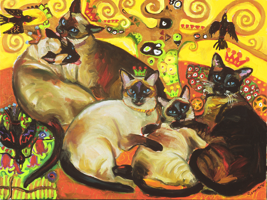 Five Klimt Cats