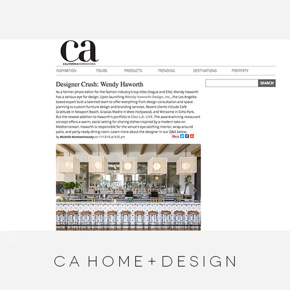 Wendy Haworth Design - California Home Design - Designer Crush Feature