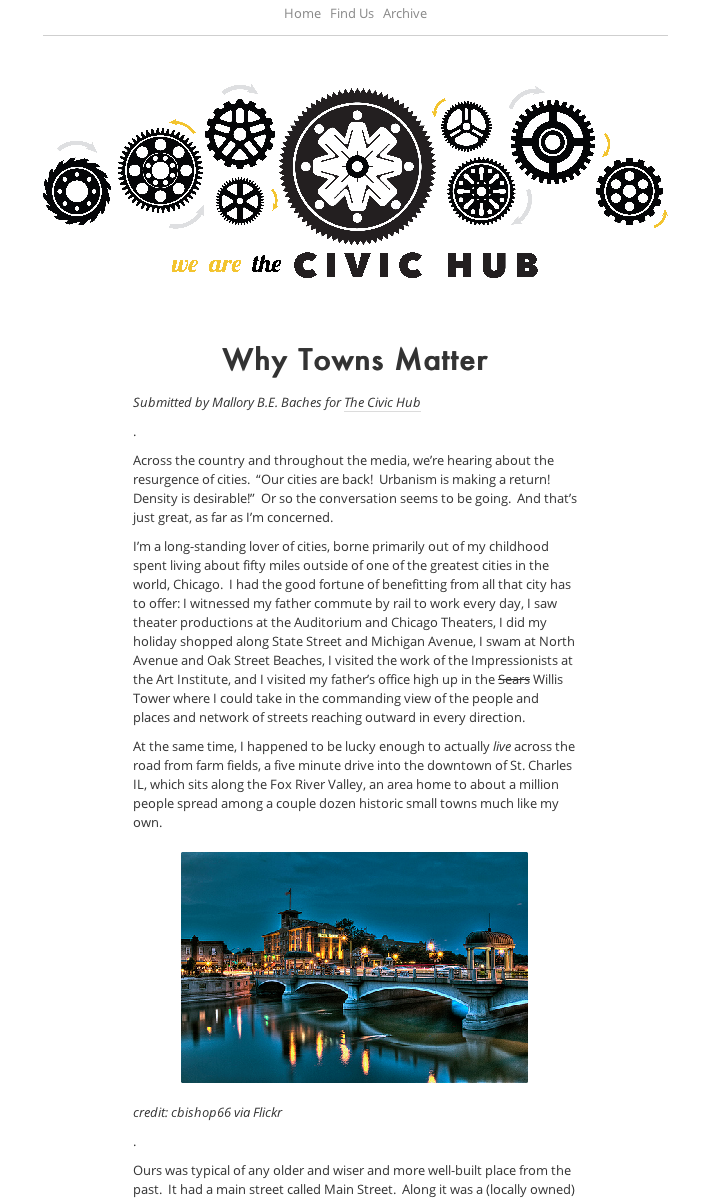 Why Towns Matter