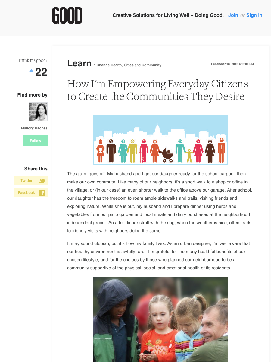 GOOD - How I'm Empowering Everyday Citizens to Create the Communities They Desire