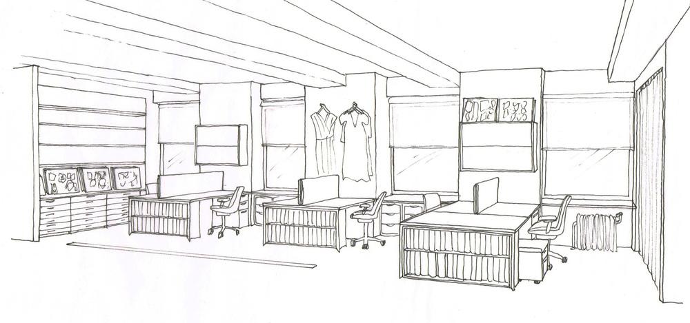 fashion showroom offices revamp interior design. Black Bedroom Furniture Sets. Home Design Ideas