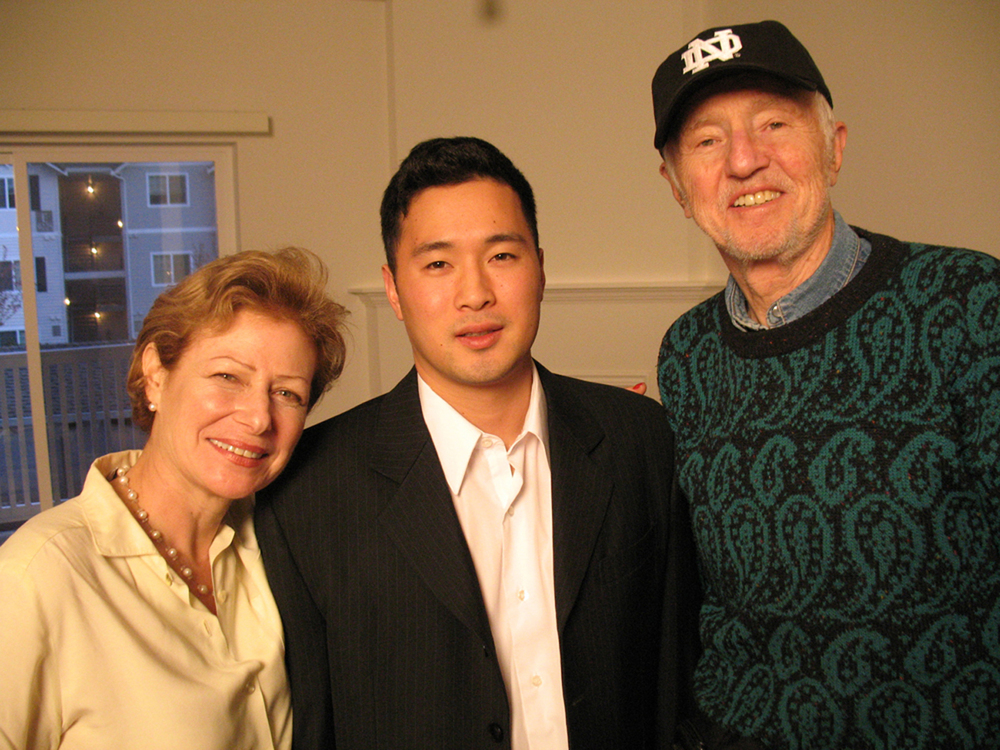 Director Nina Rosenblum, the film's subject Lt. Ehren Watada, and Cinematographer Haskell Wexler