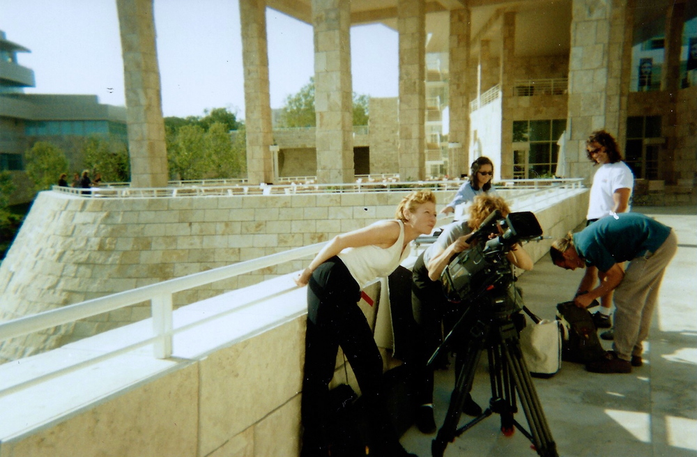 Director of Photography Nancy Schreiber and Director Nina Rosenblum filming at the Getty Museum