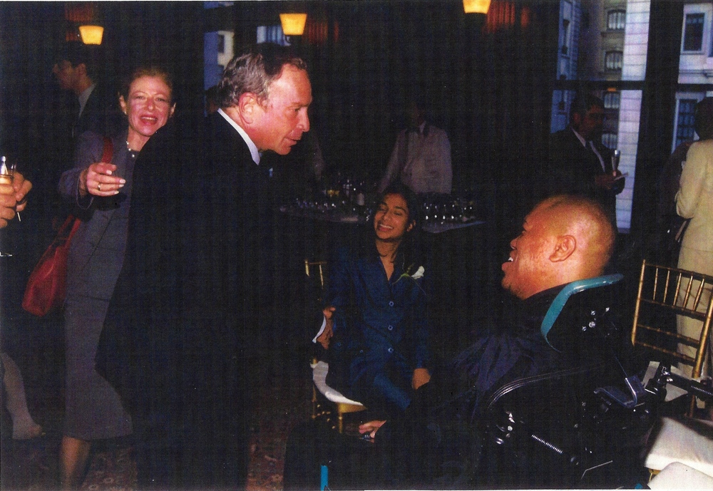 Terrence Stevens and Mayor Michael Bloomberg