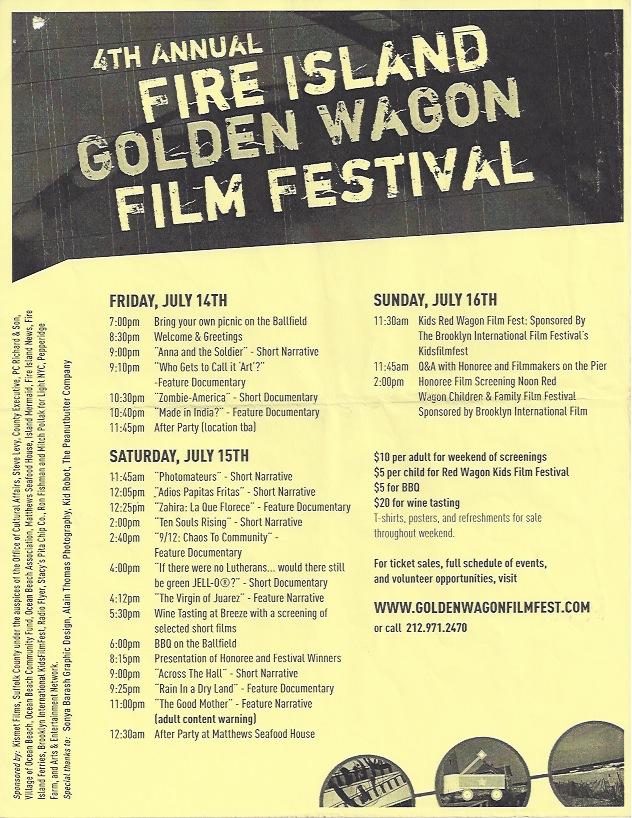 Fire Island Golden Wagon Film Festival, 2006