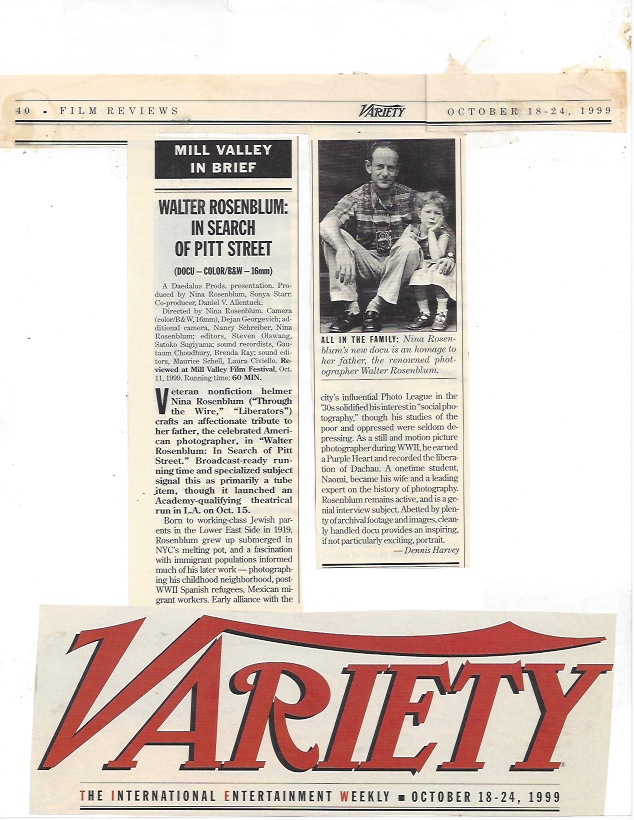 Variety Magazine, 1999