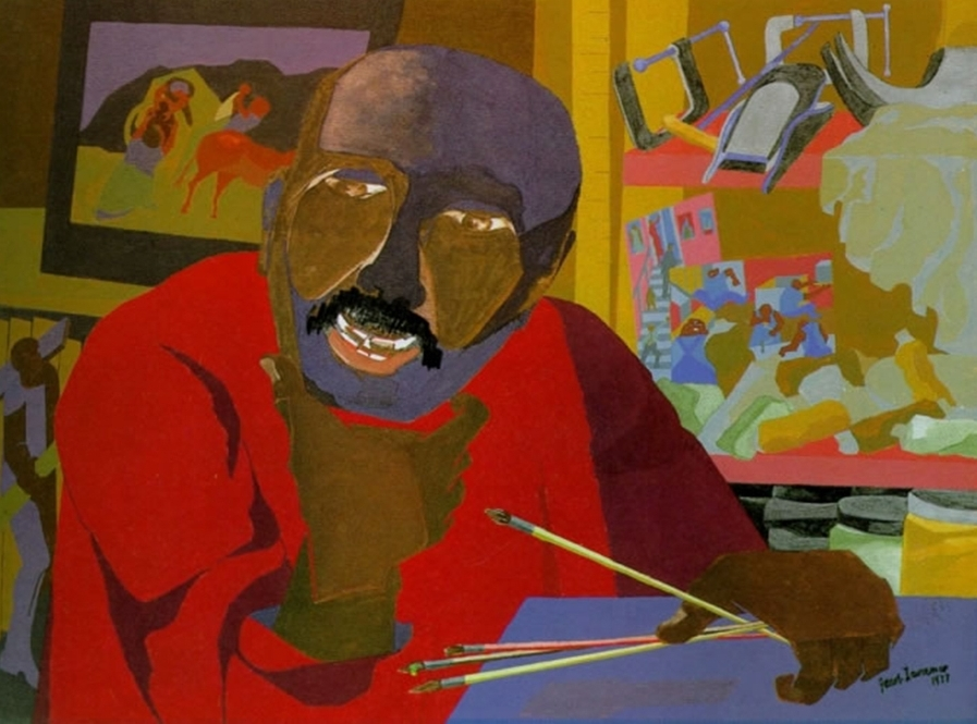 Self Portrait  (1977) by Jacob Lawrence