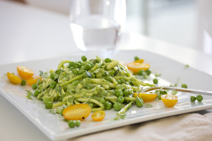 Raw zucchini pasta with an avocado pea pesto raw vegan raw zucchini pasta with an avocado pea pesto raw vegan whats cooking good looking forumfinder Gallery