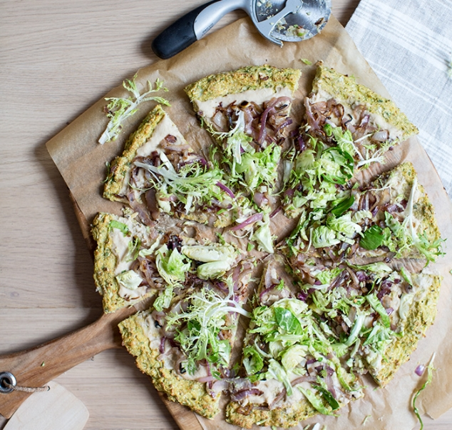 CAULIFLOWER + BRUSSEL SPROUT PIZZA CRUST … | GF + VEGAN