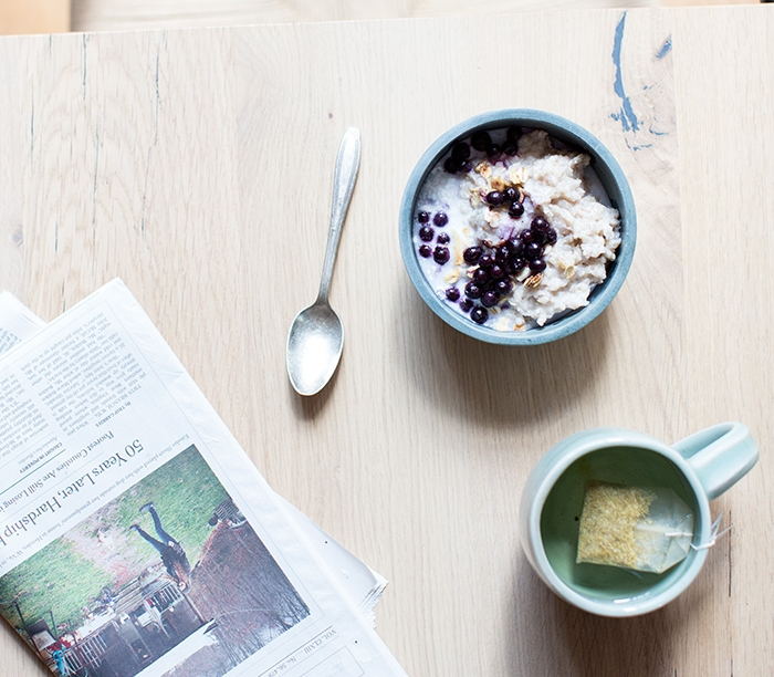 CREAMY COCONUT BUCKWHEAT + WILD BLUEBERRIES + GRANOLA