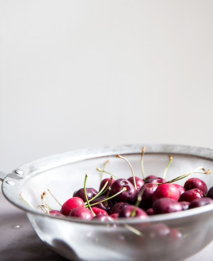 coconut rice pudding with roasted cherries | what's cooking good looking