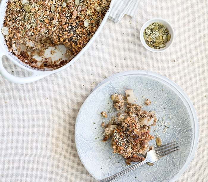 PEAR + SAGE BAKED OATMEAL