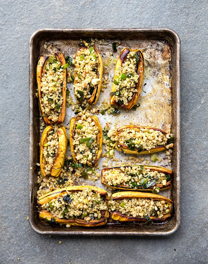roasted stuffed delicata squash | what's cooking good looking