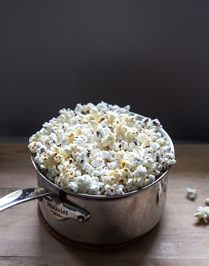 dark chocolate popcorn party mix + rosemary sea salt | what's cooking good looking