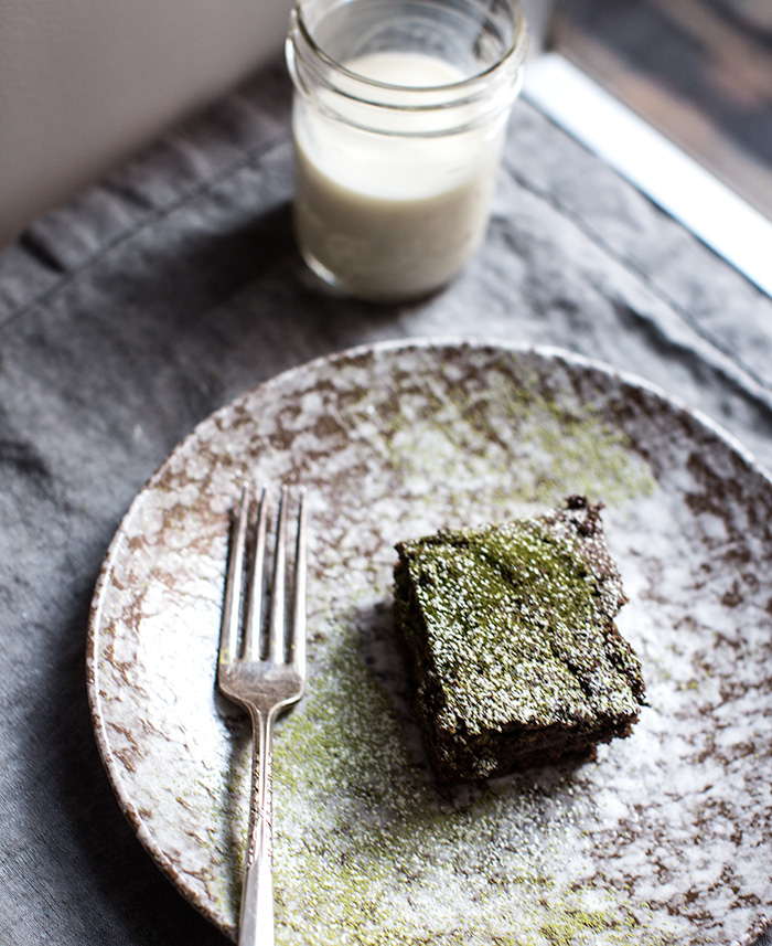 matcha brownies | what's cooking good looking