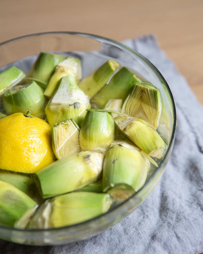 roasted baby artichokes + za'atar lemon yogurt | what's cooking good looking