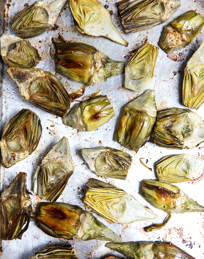 roasted baby artichokes + za'atar lemon yogurt | what's cooking good looking