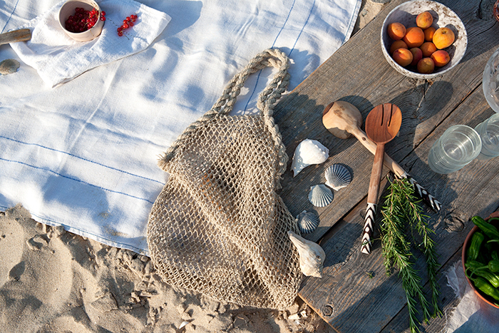 vegetable paella on the beach | what's cooking good looking
